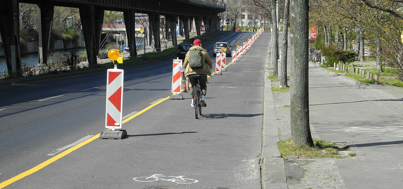 Pop-up Bikelane in Berlin